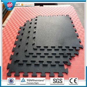 Colorful Inter-Locked Rubber Gym Floor Tile / Crossfit Rubber Gym Mats pictures & photos