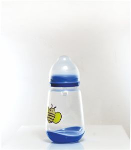 Honeybee Pattern Transparent Baby Feeding Bottles for Infant Care pictures & photos
