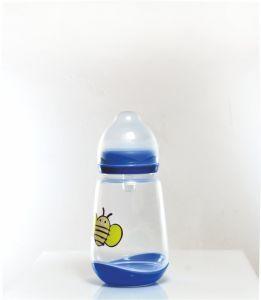 Honeybee Pattern Transparent Baby Feeding Bottles for Infant Care