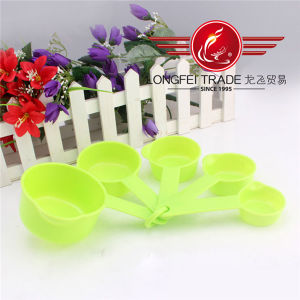 5 PCS Colored Plastic Measuring Cup and Spoon Set pictures & photos