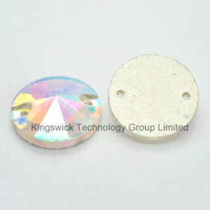 Round Rivoli Flat Back Sew on Glass Stones pictures & photos