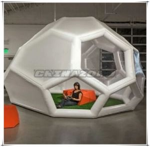 New Arrival Creative Football Shaped Inflatable Bubble Tent for Sale pictures & photos