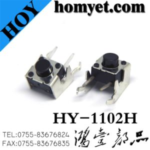 High Quality 6*6mm 4pin Tact Switch with DIP Type (HY-1102H) pictures & photos