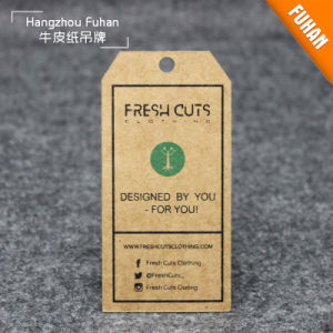 Professional Manufacture Wholesale Kraft Garment Swing Tags pictures & photos