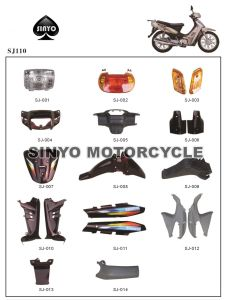 Popular Cub Motorcycle SJ110cc Spare Parts pictures & photos