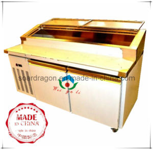 Refrigerated Pizza Work Bench with Display Pans pictures & photos
