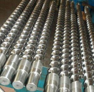 Double Gas Vented Screw Barrel for Recycled Materials Pelleting / Twin Gas Vented Screw Barrel for Recycled Woven Bag pictures & photos
