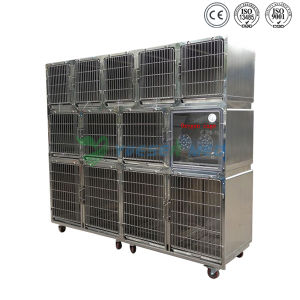 Yuesenmed Veterinary Hospital Medical Stainless Steel Pet Cage pictures & photos