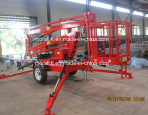 Aerial Trailing Towable Articulated Boom Lift pictures & photos