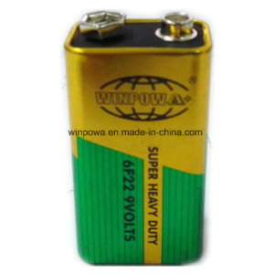 IEC Code 6f22 Zinc Carbon 9V Battery pictures & photos