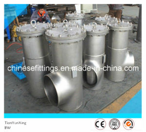 ANSI Three Way Flanged Cover Stainless Steel Basket Strainer pictures & photos
