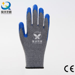 10g Cotton Shell Latex Palm Coated Safety Glove pictures & photos