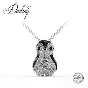 Destiny Jewellery Crystal From Swarovski Penguin Pendant & Necklace