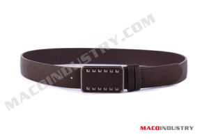Men′s Genuine Leather Belt with Auto Buckle (Mu23)