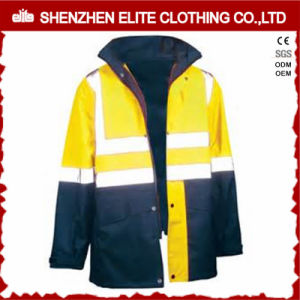 Fluorescent Yellow Blue Safety Wear Waterproof Reflective Jacket (ELTSJI-15) pictures & photos