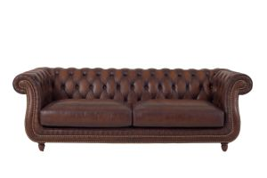 Top Quality Brown Color Vintage Chesterfield Luxury Leather Sofa pictures & photos