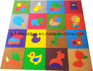 Animal Pattern Children Playground Softy Rubber Tile pictures & photos