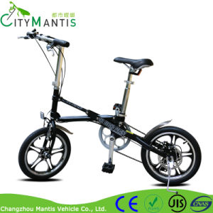16 Inch Carton Steel Adult Lightweight Mini Folding Bike pictures & photos