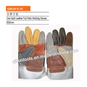 K-09 Full Cow Leather Full Palm Working Gloves pictures & photos