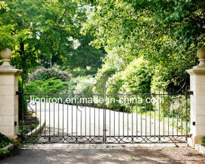 Hand Forged Main Wrought Iron Door Gates pictures & photos