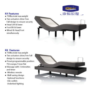 2016 Hot Sale Electric Adjustable Bed with Wall Hugger pictures & photos