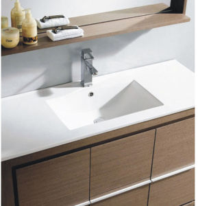 Hot Sale MDF Melamine Surface Bathroom Furniture with Mirror (SW-ML1202) pictures & photos