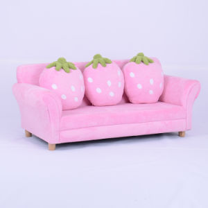 Strawberry Children Furniture with Throw Pillow (SXBB-281-4) pictures & photos