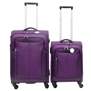 Best Selling Polyester Trolley Suitcase pictures & photos