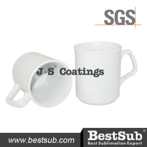 Js Coatings Sublimation Mugs 9oz Blank Coated Mug with Special Handle pictures & photos