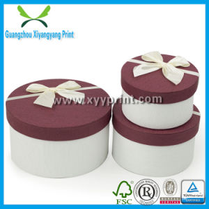 Round Paper Pacakging Cardboard Gift Box with Lid Wholesale pictures & photos