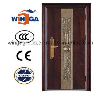 Nice Big Frame Popular Sunproof Security Steel Door (W-S-24) pictures & photos