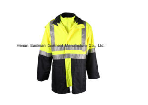 Customised Reflective Winter Waterproof Safety Jacket pictures & photos