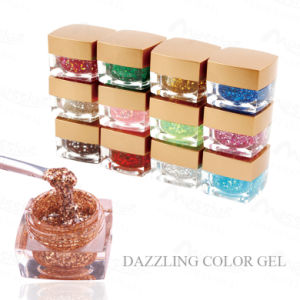 Professional Nail Art Soak off 8g Glitter Dazzling UV Gel Color Painting Gel