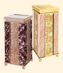 2016 New Design Marble Like Ash Dustbin (DK145) pictures & photos