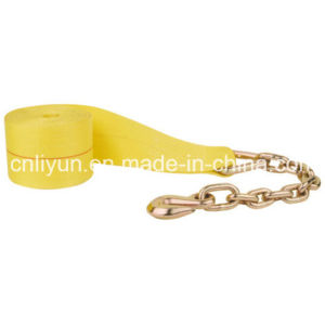 4′′ Winch Strap / 100% Polyester Strap with Chain Anchor