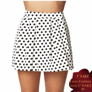 Ladies A-Line Polka DOT Fashion Mini Skirt