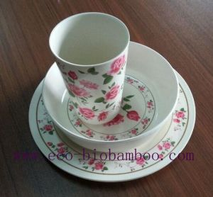 Bamboo Fiber Tableware Combination Series with Printed (BC-CS1001) pictures & photos