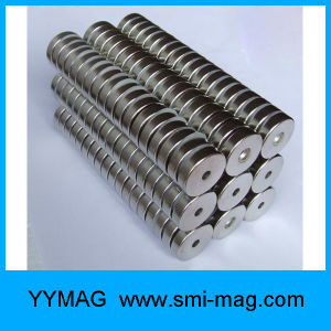 Nickel Coated NdFeB Neodymium Countersunk Ring Strong Magnets pictures & photos