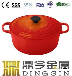 Enameled Cast Iron Mini Size Casserole Pot with Lid pictures & photos