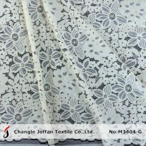 High Quality Cord Italian Lace Fabric for Dresses (M3404-G) pictures & photos