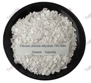 Calcium Chloride Dihydrate 74% Flake pictures & photos