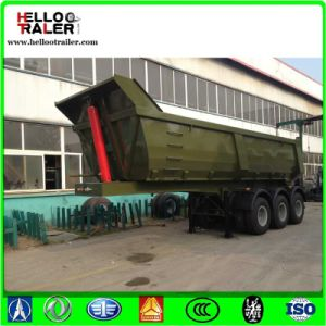 End Dump Truck Trailers, Hydraulic Tipper Semi Trailer for Sale pictures & photos