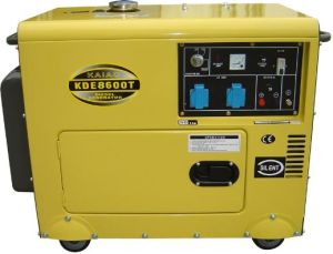 Kde 6.5-7kVA Silent Portable Diesel Generating Set pictures & photos