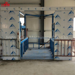 Guide Rail Lift Platform for Warehouse Cargo Loading and Unloading pictures & photos