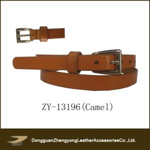 Janyo Cowhide Slim Leather Belt for Women (ZY-13196)