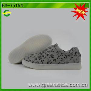 Wholesaler Men Canvas LED Shoes Rechargeable pictures & photos
