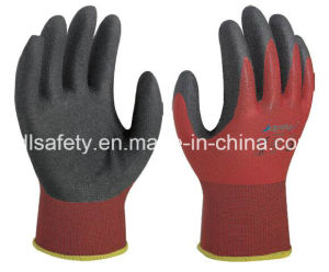 Nylon Knitted Work Glove with Sandy Nitrile Dipping (N1590) pictures & photos