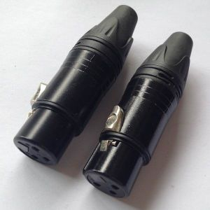 Neutrik Style 3-Pin Female Plug XLR Connector All Black (1031-2G) pictures & photos