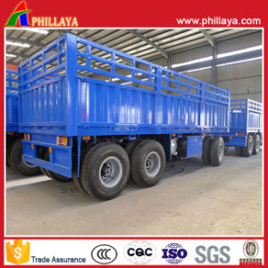 Single Wheel Axle Side Wall Drawbar Trailer pictures & photos
