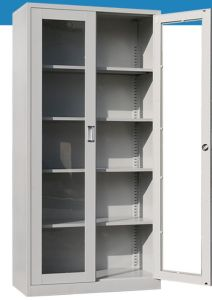 2-Door 5 Layers Metal Office Storage Wardrobe Lockers/Cabinet/Bookcase pictures & photos